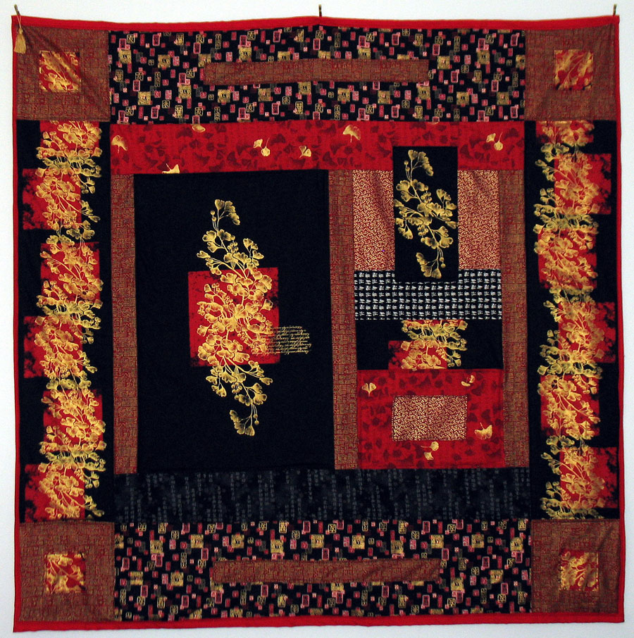 Black and Red Asian Quilt