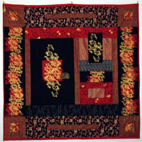 dragon quilter quilt - Black and Red Asian