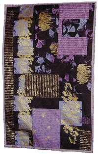 dragon quilter - Purple Ginko Quilt