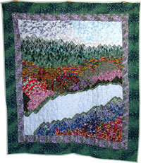 Landscape Mountain quilt - Dragon Quilter
